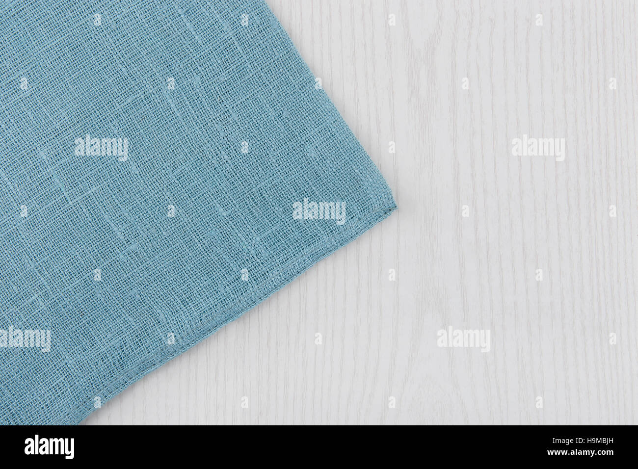White wooden table texture - Napkin From Left Side Wooden Table White Blue Background Soft Blue Woven Linen Fabric Texture White Wood Texture