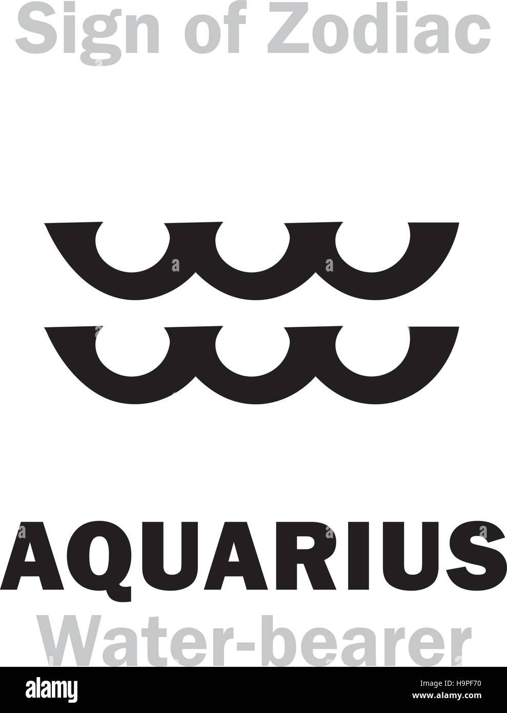 Astrology alphabet sign of zodiac aquarius the water bearer astrology alphabet sign of zodiac aquarius the water bearer hieroglyphics character sign single symbol biocorpaavc Choice Image