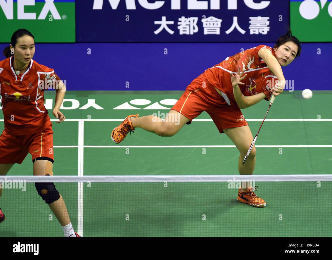 Hong Kong China 25th Nov 2016 Bao Yixin L and Yu Xiaohan of