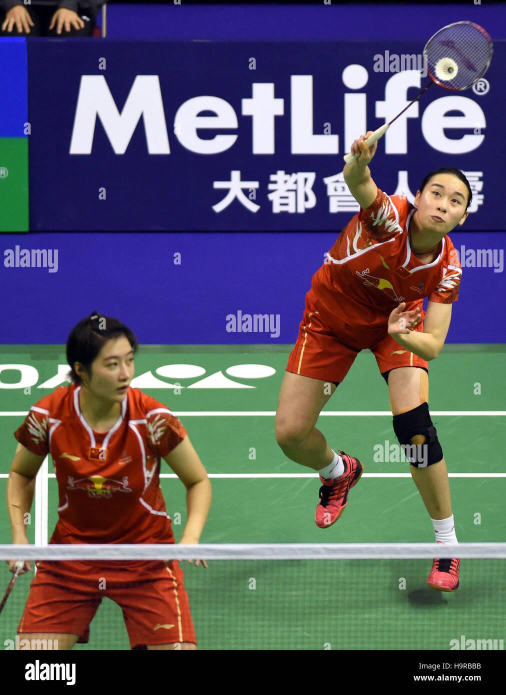 Hong Kong China 25th Nov 2016 Bao Yixin R and Yu Xiaohan of