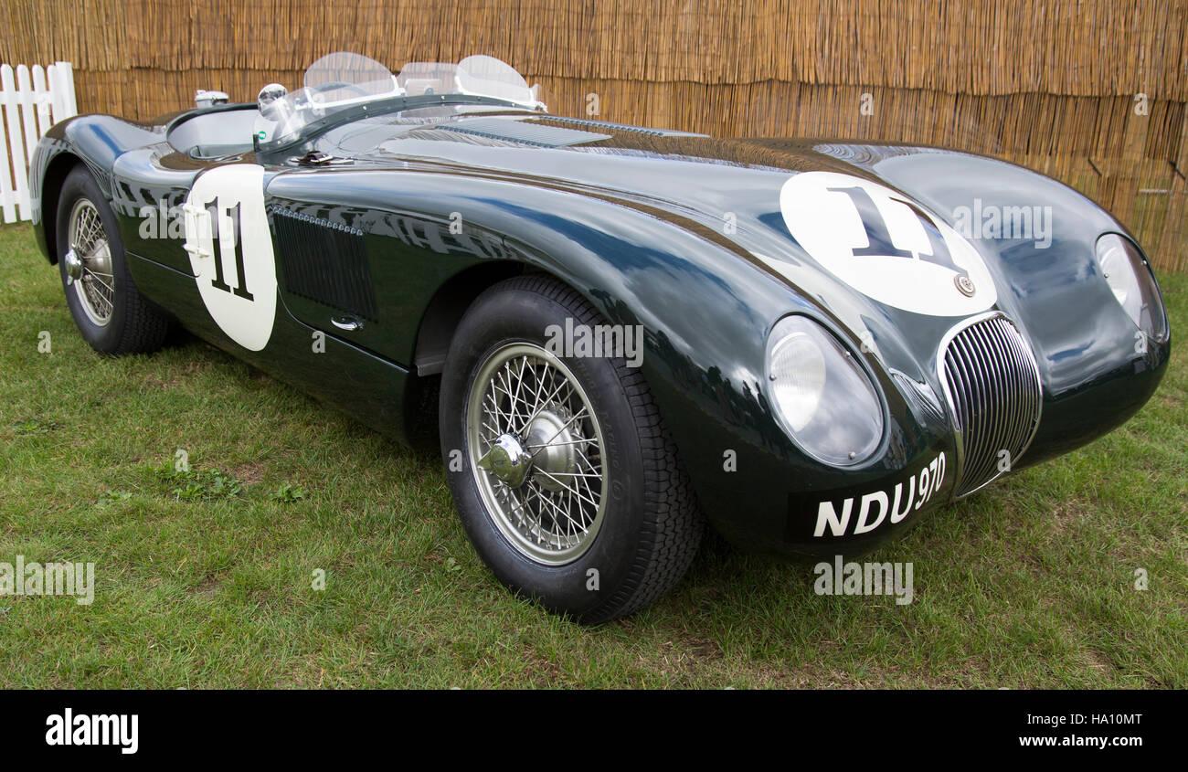 Jaguar jaguar c : A 1953 Jaguar C-Type sports racing car Stock Photo, Royalty Free ...