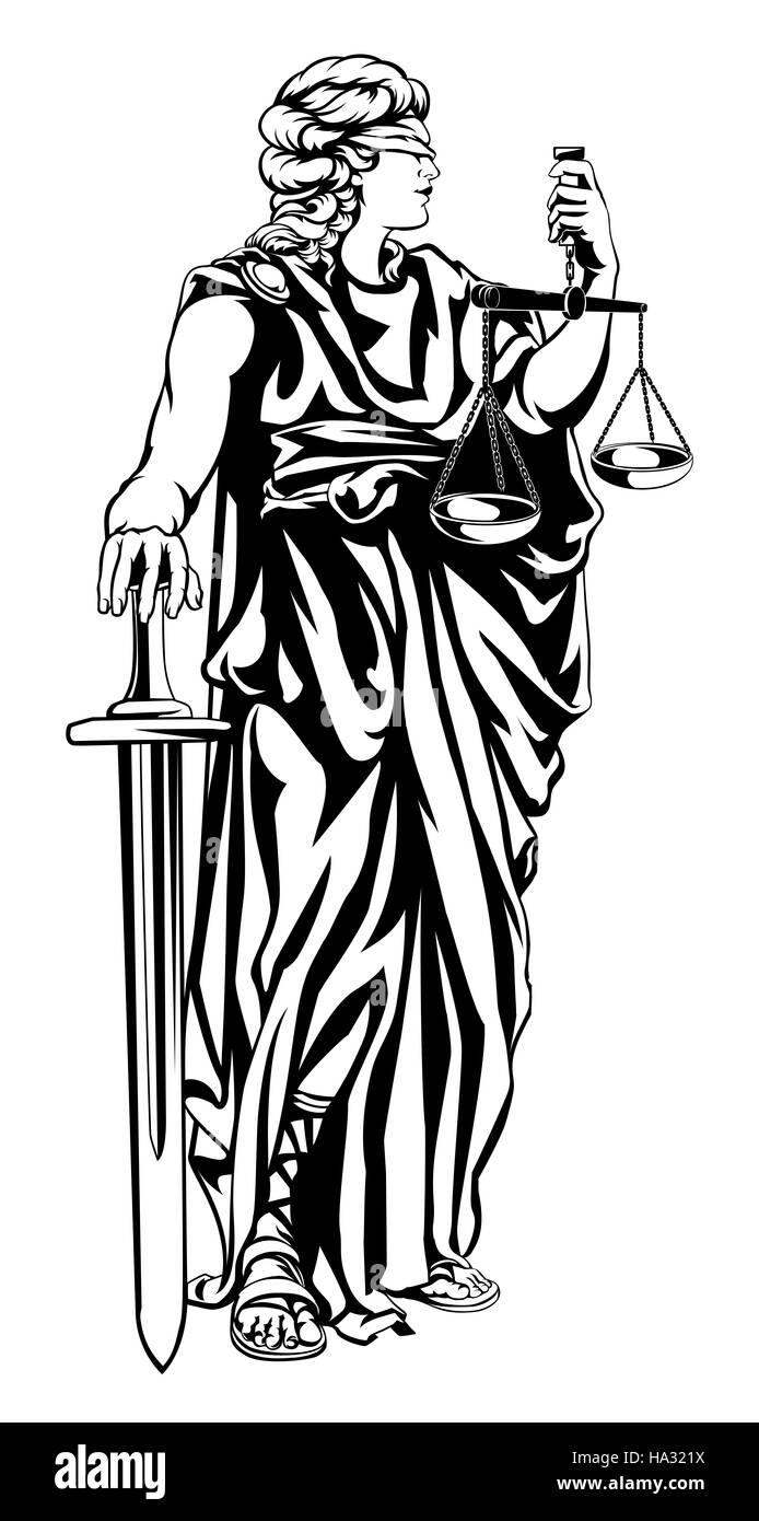 Roman goddess justice lady justice stock photos roman goddess illustration of lady justice woman holding scales and sword and wearing a blindfold stock image buycottarizona