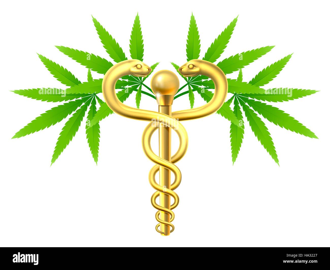 Medical marijuana cannabis plant caduceus symbol with two snakes medical marijuana cannabis plant caduceus symbol with two snakes and rod biocorpaavc