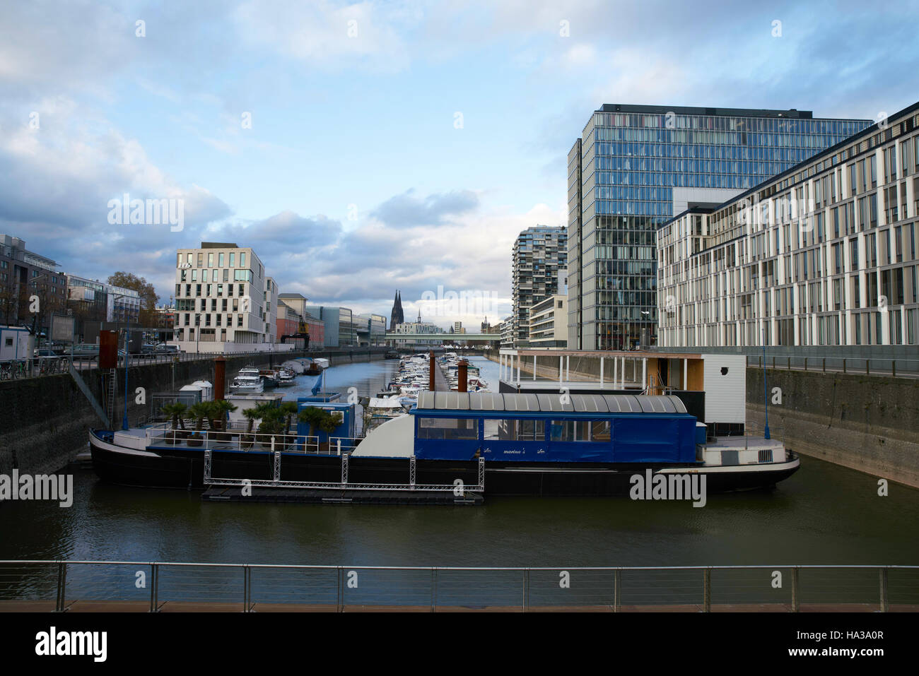 Modern Architecture Germany kranhaus, modern architecture in cologne germany stock photo