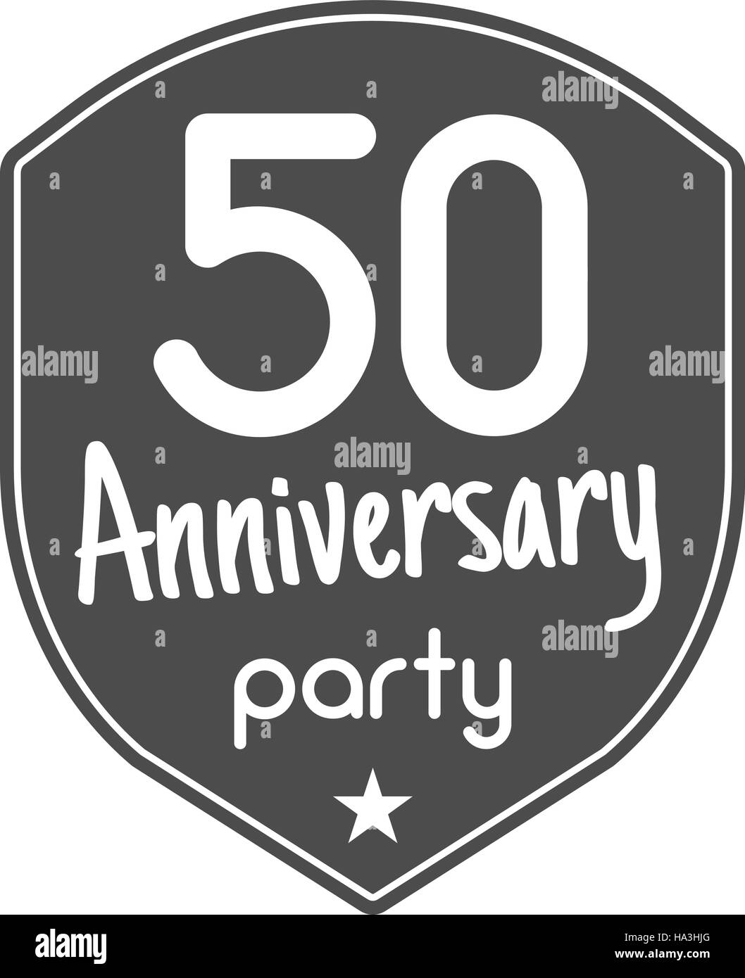 50 years anniversary badge sign and emblem with ribbon and stock 50 years anniversary badge sign and emblem with ribbon and typography elements flat design with shadow vector illustration isolate on white backgro buycottarizona Choice Image
