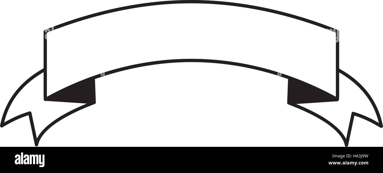 pictogram ribbon banner blank design Stock Vector Art ...