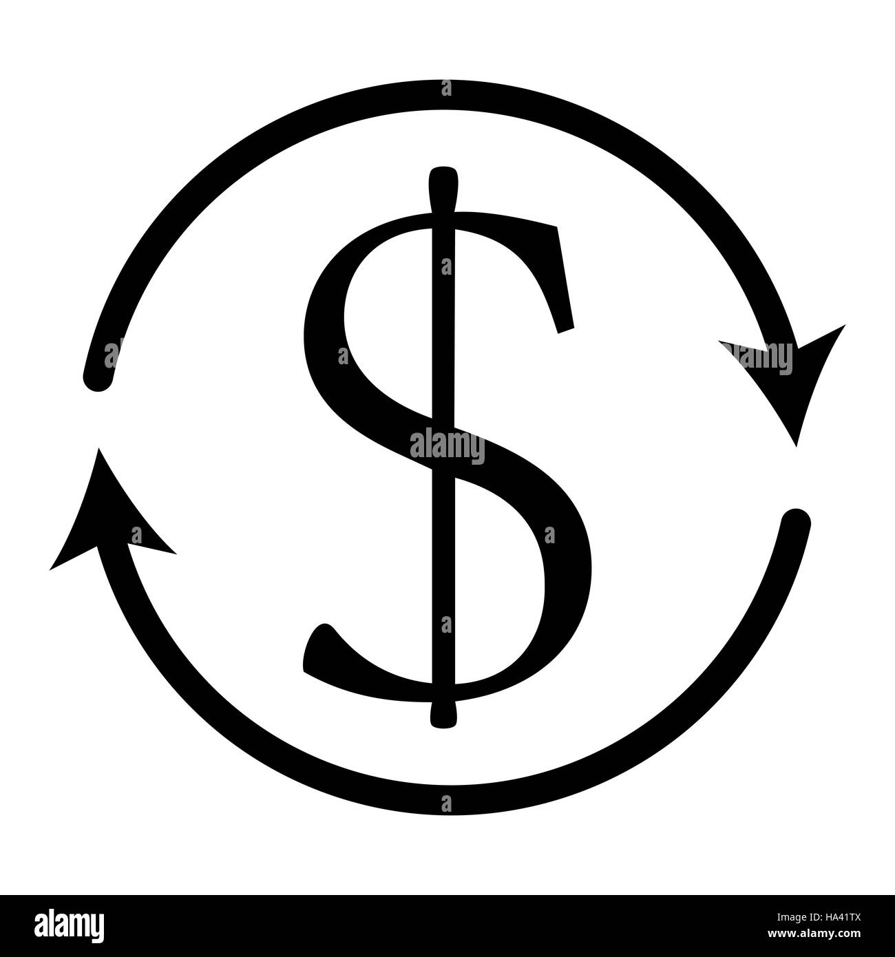 Dollar currency exchange money symbol arond arrow finance and dollar currency exchange money symbol arond arrow finance and business vector illustration biocorpaavc