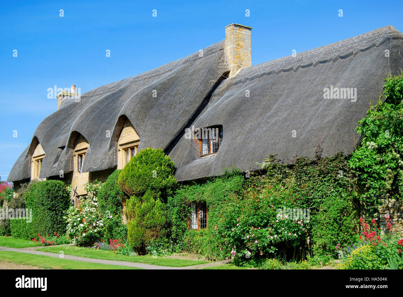 Thatched Cottages Chipping Campden Cotswolds Gloucestershire England United Kingdom