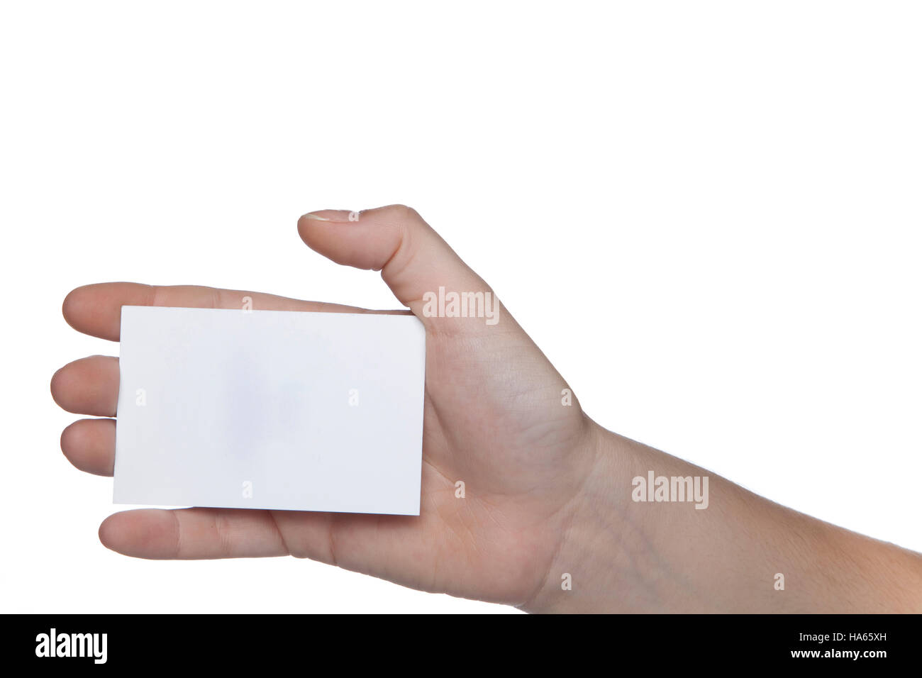 Small business card in hand white background stock photo royalty small business card in hand white background magicingreecefo Choice Image