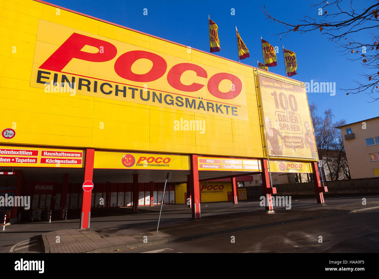 hannover germany november 27 2016 german poco stock. Black Bedroom Furniture Sets. Home Design Ideas