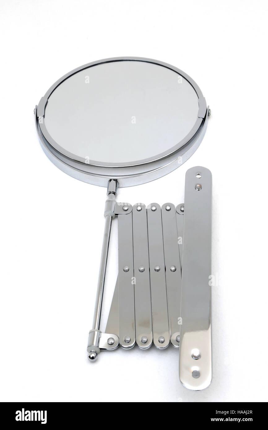 Chrome extending wall mounted shaving mirror stock photo royalty chrome extending wall mounted shaving mirror amipublicfo Gallery