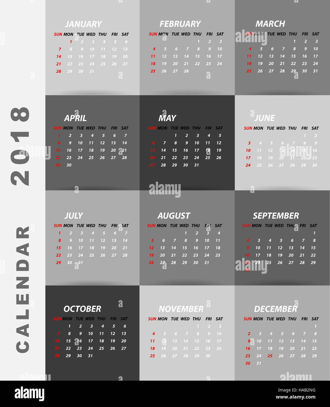 Minimalist Calendar Design : Calendar minimalist design stock photo royalty free