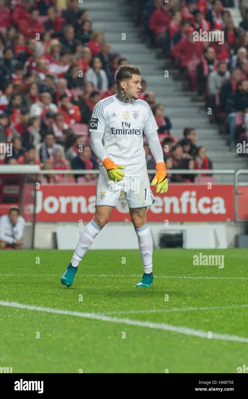 Lisbon Portugal 27th November 2016 Benfica s goalkeeper from