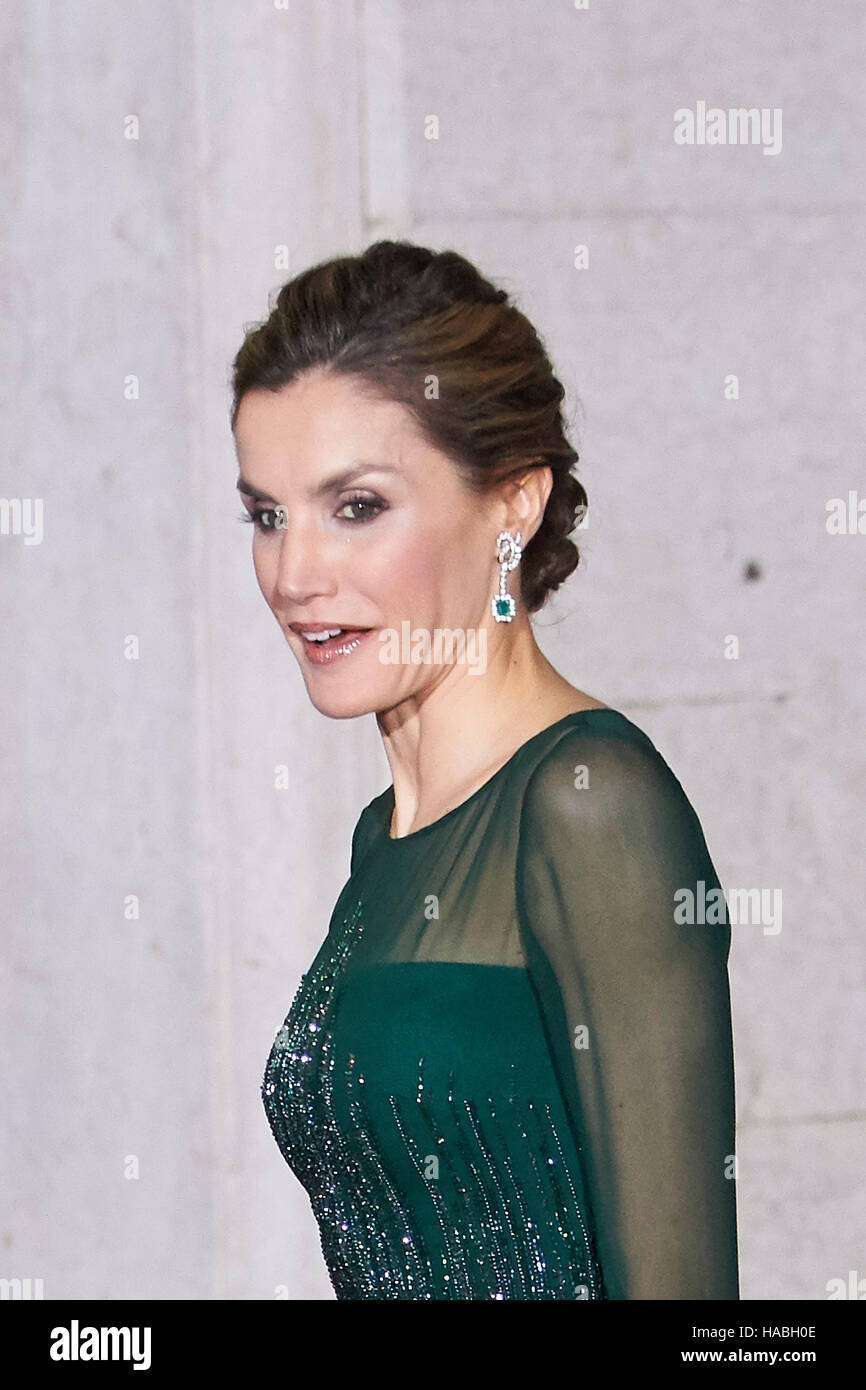 Lisbon Portugal 29th Nov 2016 Fernanda Maria Goncalves Tadeu Queen Letizia