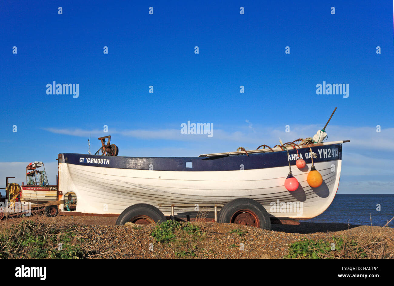 An inshore fishing boat on the shingle beach at weybourne for What is inshore fishing