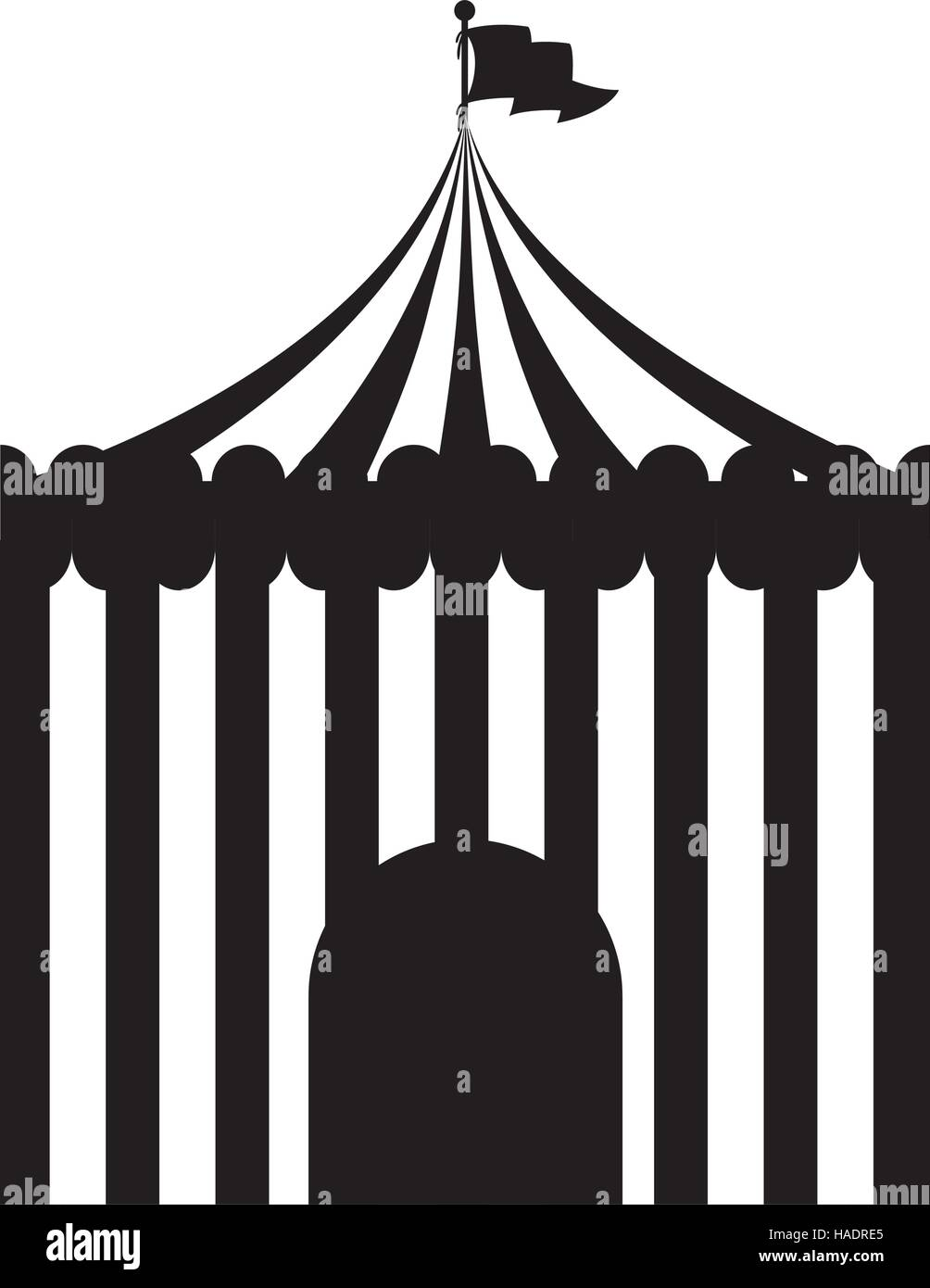 black silhouette circus tent icon vector illustration  sc 1 st  Alamy & black silhouette circus tent icon vector illustration Stock Vector ...
