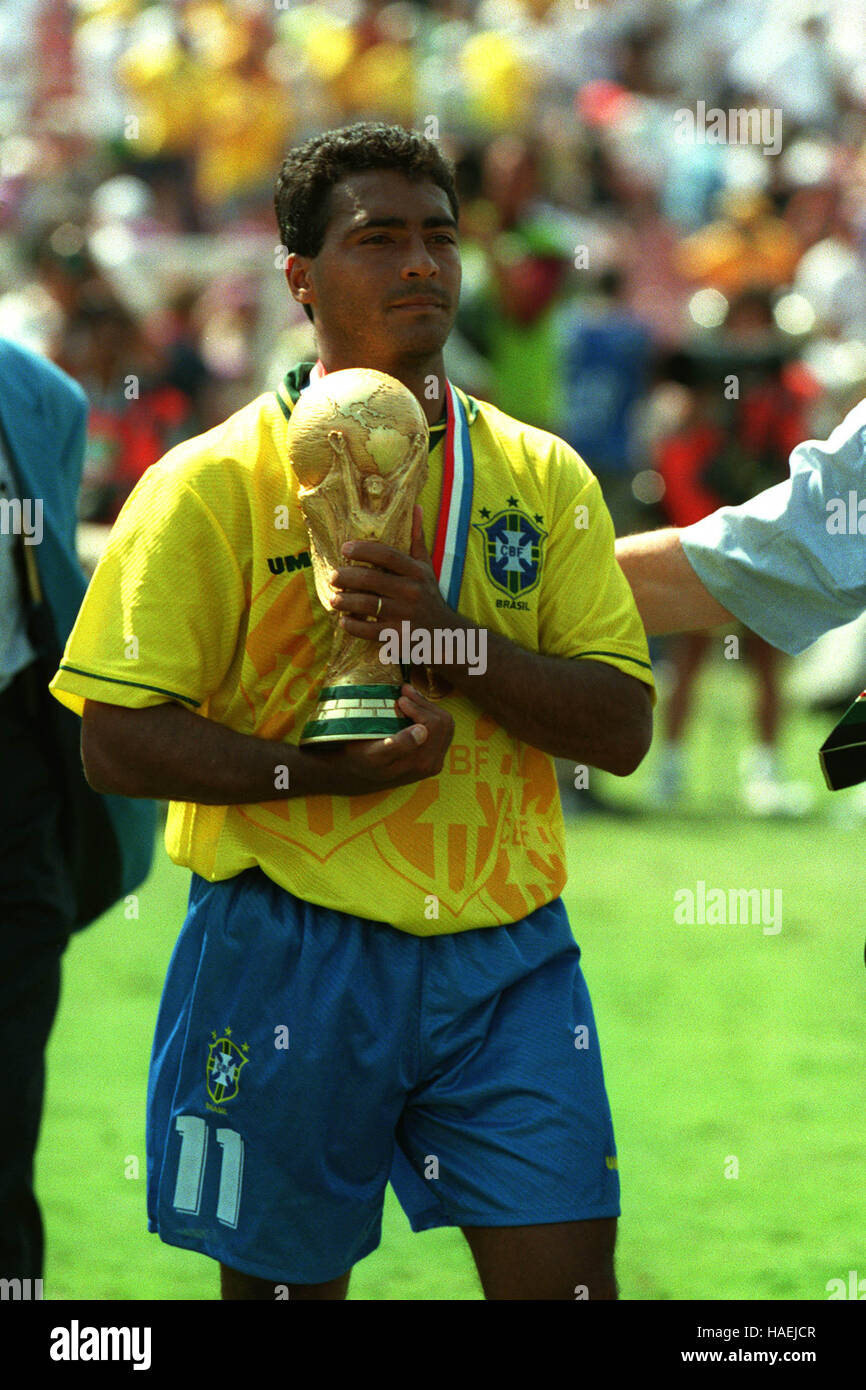 ROMARIO HOLDS THE WORLD CUP BRAZIL WIN THE WORLD CUP FINAL 17 July