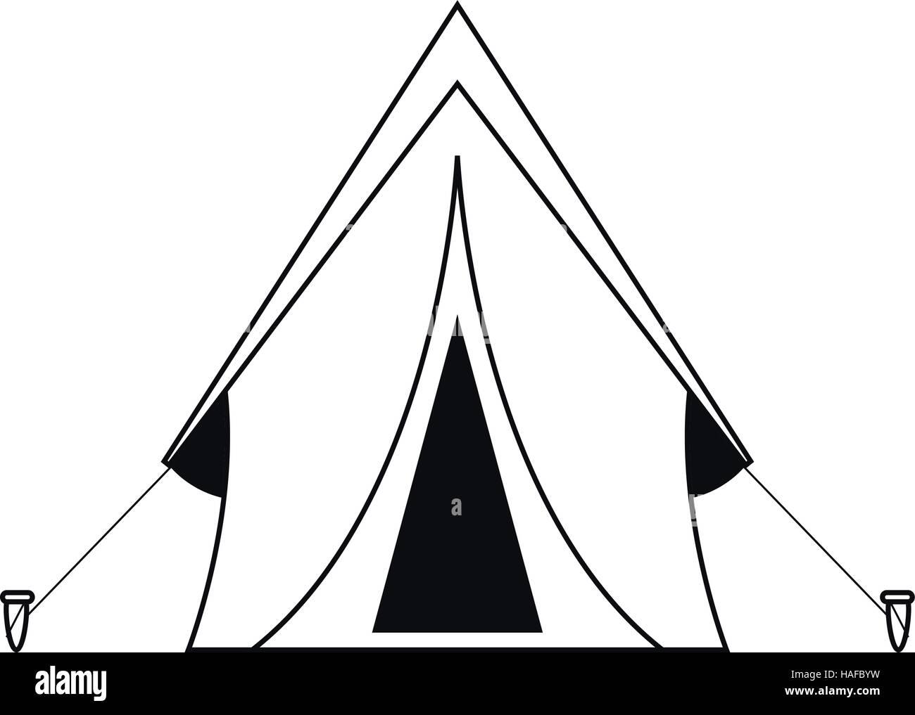 outline tent equipment c&ing activities  sc 1 st  Alamy & outline tent equipment camping activities Stock Vector Art ...