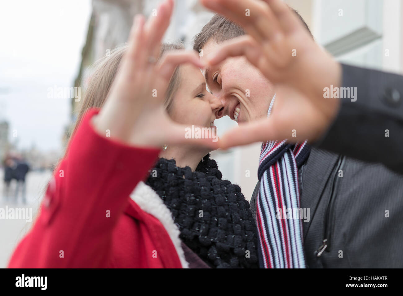 Heart In Hands Loving Couple Stock Photos & Heart In Hands Loving ...