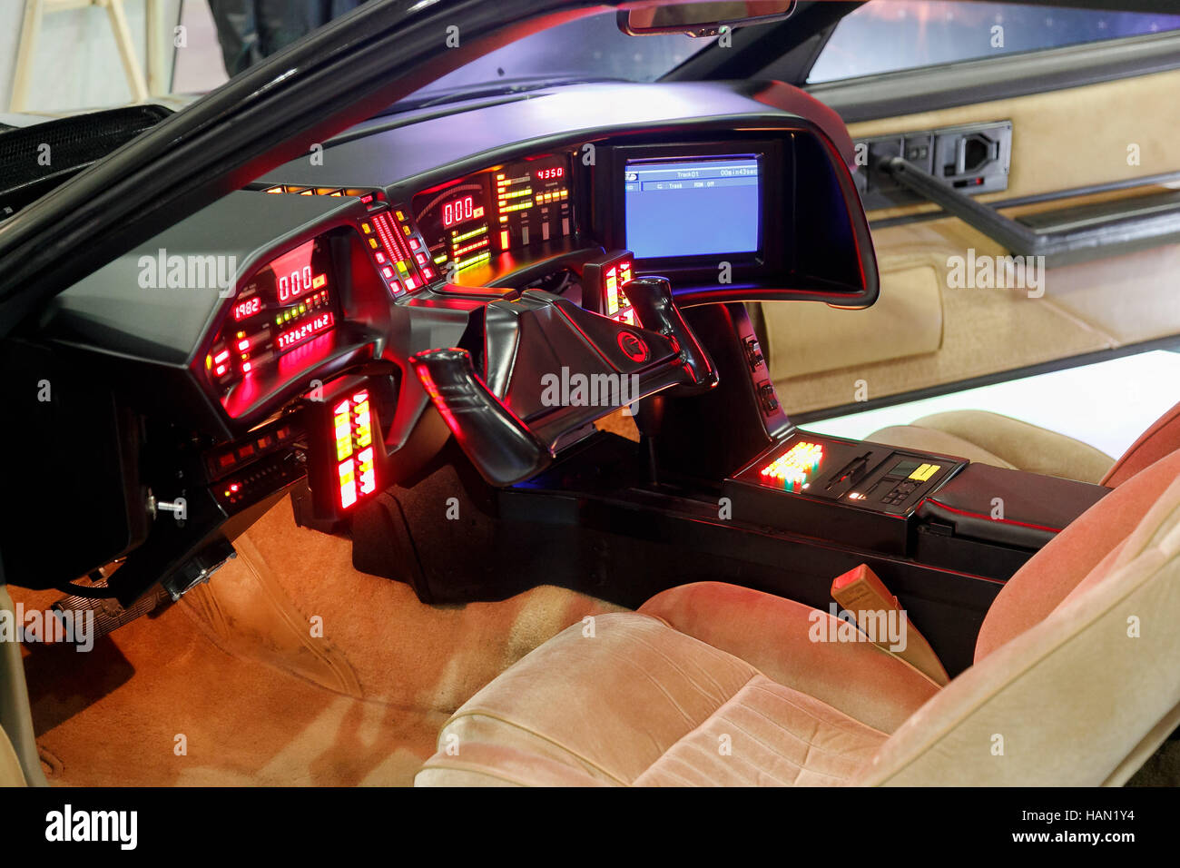 Replica Knight Rider Car Up For Sale On Craigslist: Tokyo, Japan. 2nd Dec, 2016. A Replica Of The KITT Car