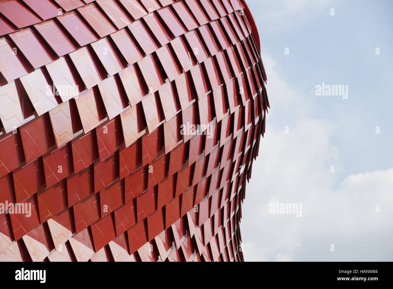 Detail of red modern ceramic tiles roof stock photo royalty free detail of red modern ceramic tiles roof dailygadgetfo Choice Image