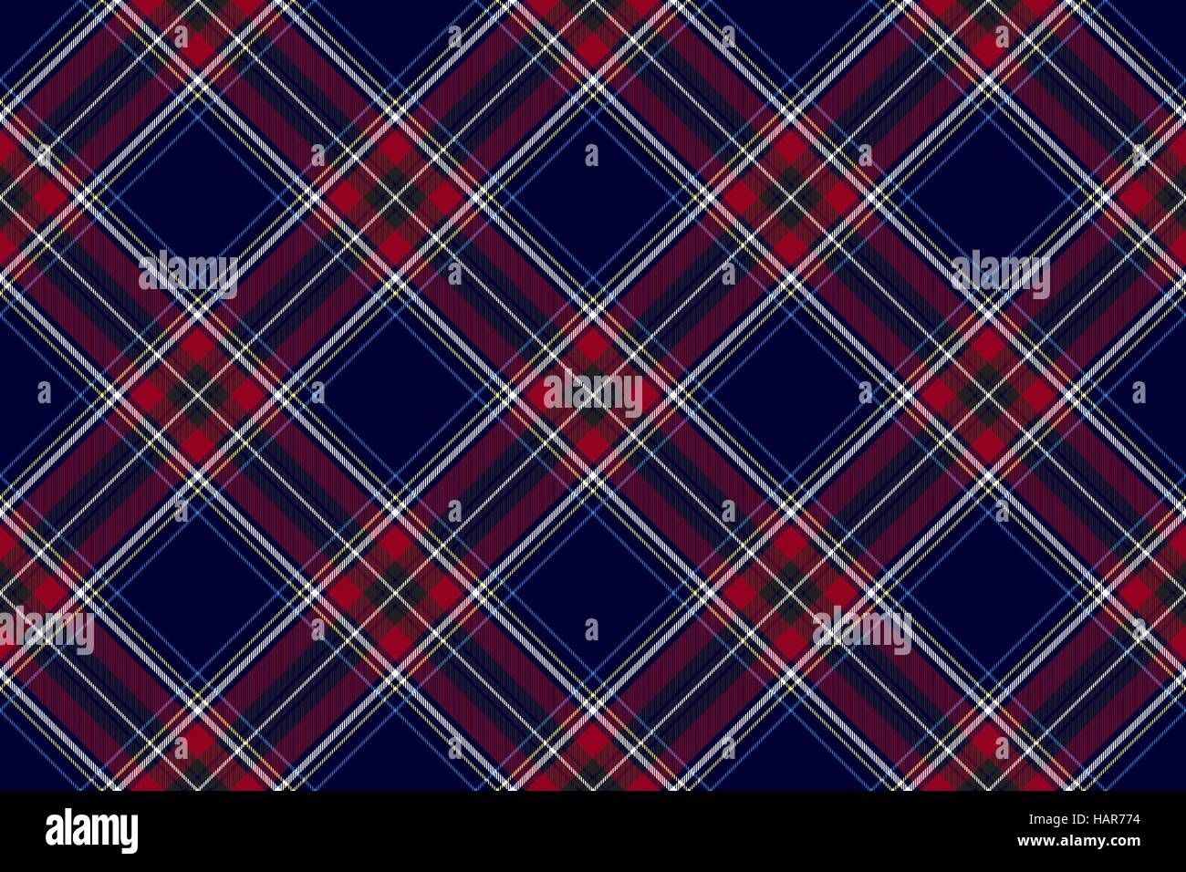 Blue red diagonal check fabric texture seamless pattern Stock ...