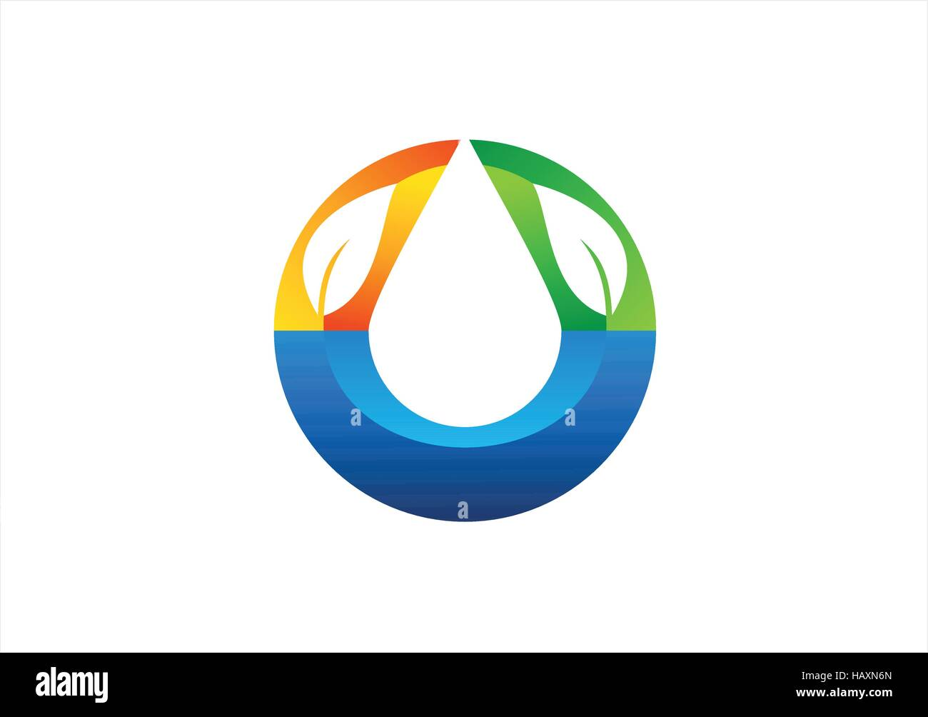 Water drop logo natural health friendly symbol circle water drop water drop logo natural health friendly symbol circle water drop and nature leaves icon clean ecology waterdrop vector design biocorpaavc Image collections