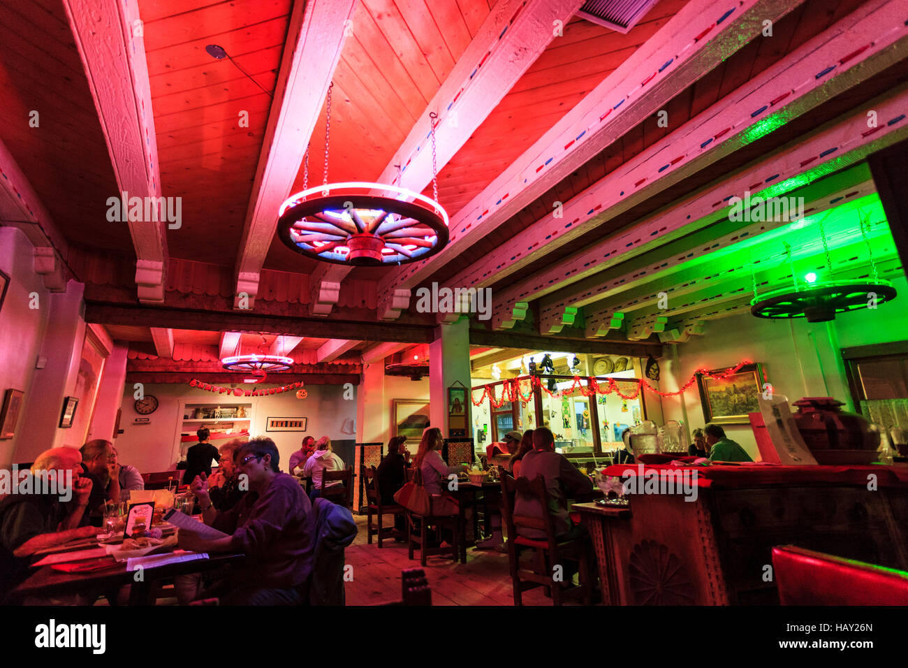 interior of maria's new mexican kitchen famous for it's food and