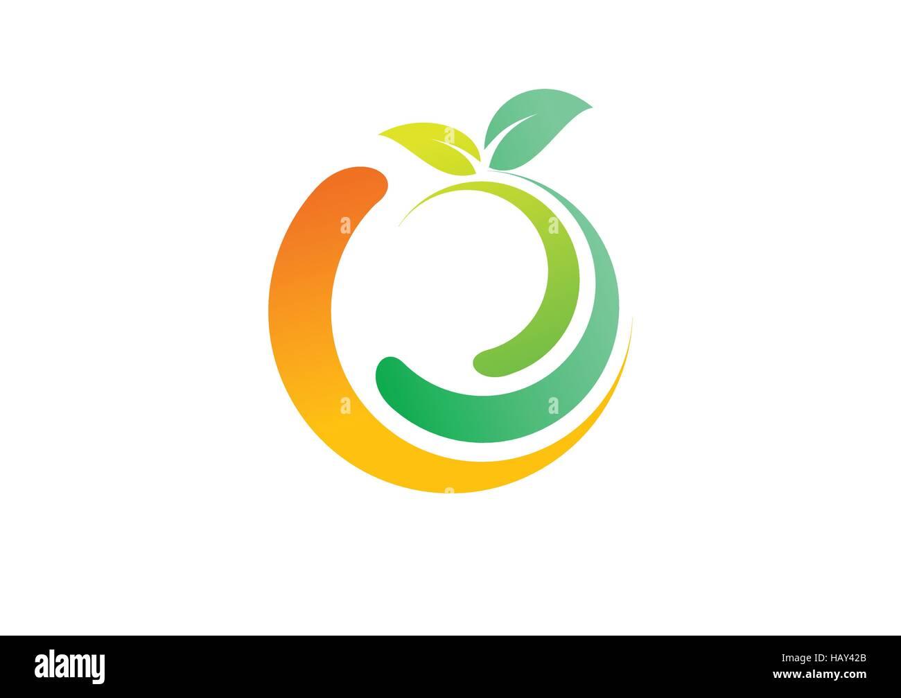 Apple Fruit Logo Design
