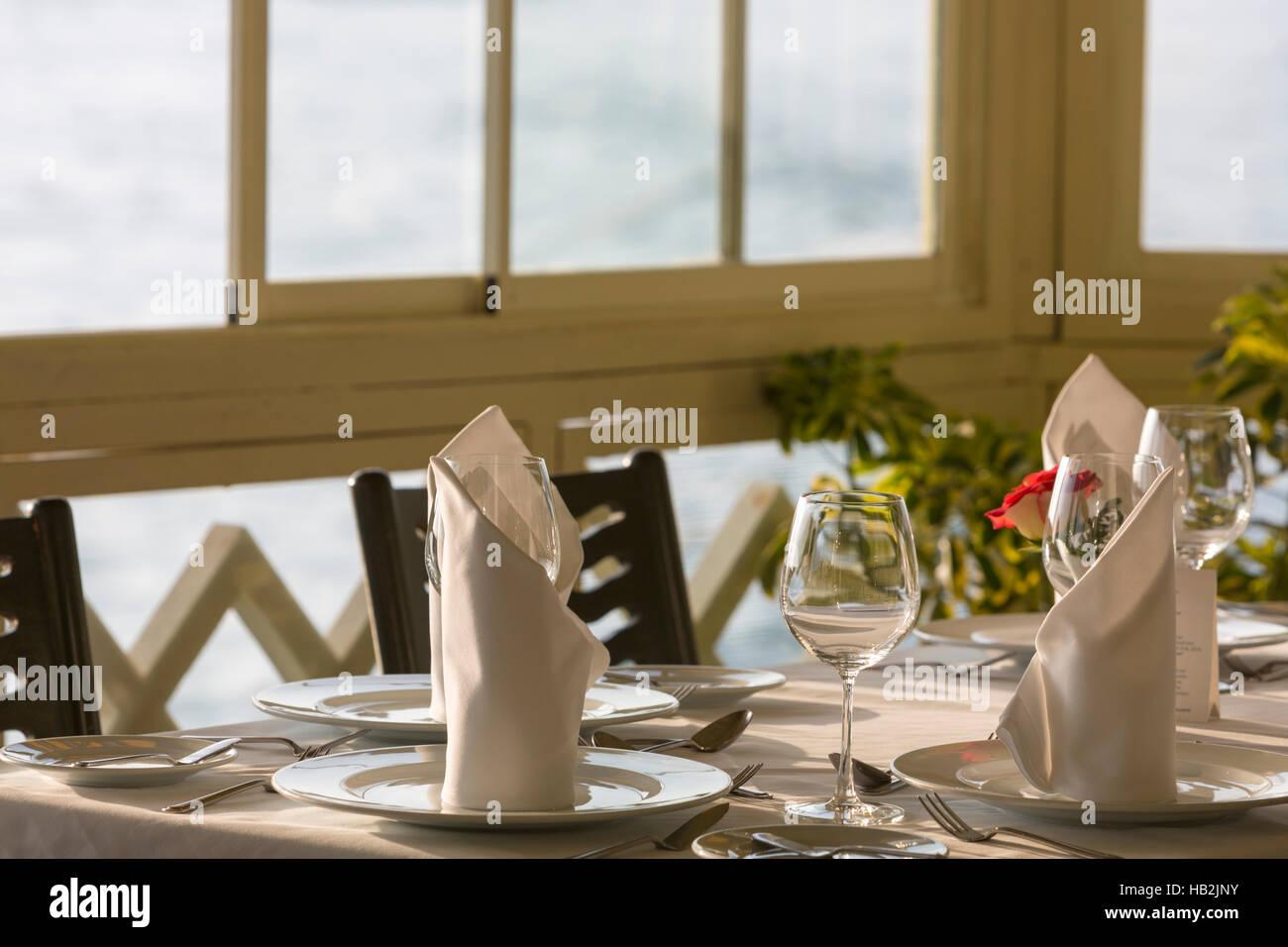 Fine restaurant dinner table place setting napkin \u0026 wineglass Peru & Fine restaurant dinner table place setting: napkin \u0026 wineglass Peru ...