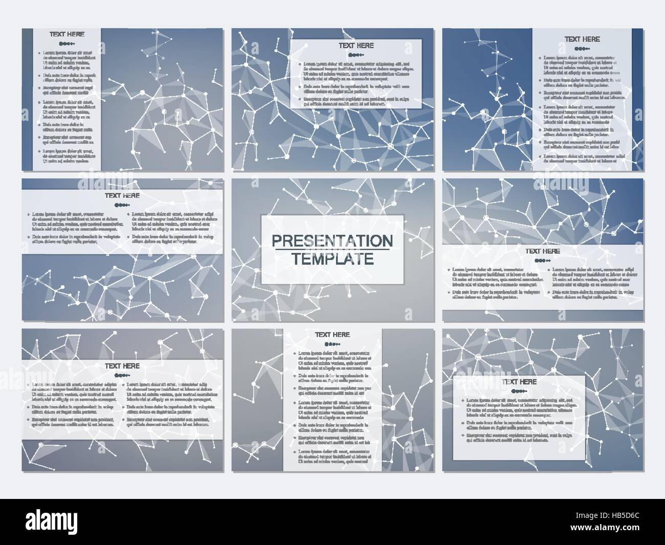 set of modern business presentation templates in a4 size. abstract, Presentation templates