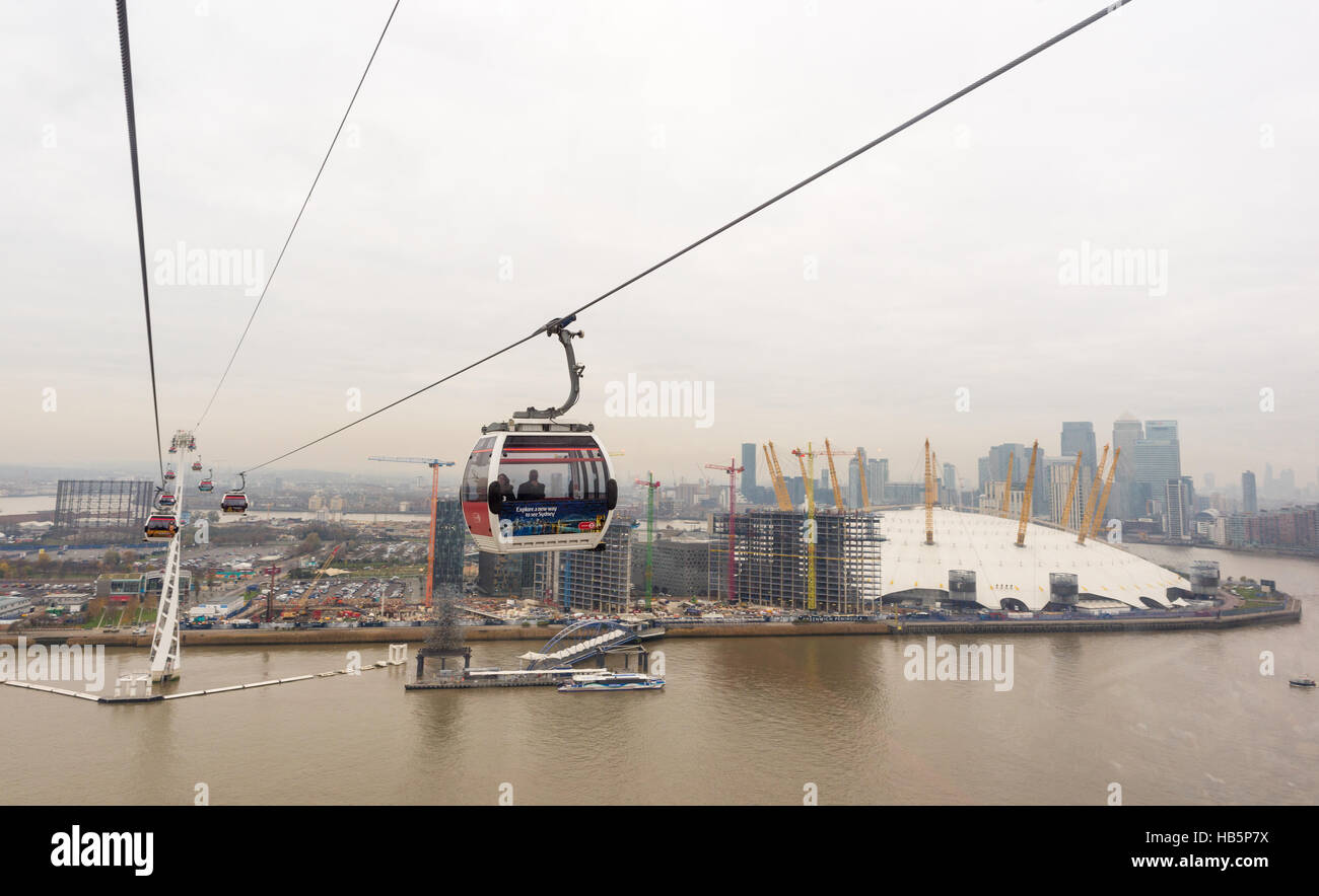 Cable Automotive Oklahoma City : Crossing the river thames in an emirates cable car next to