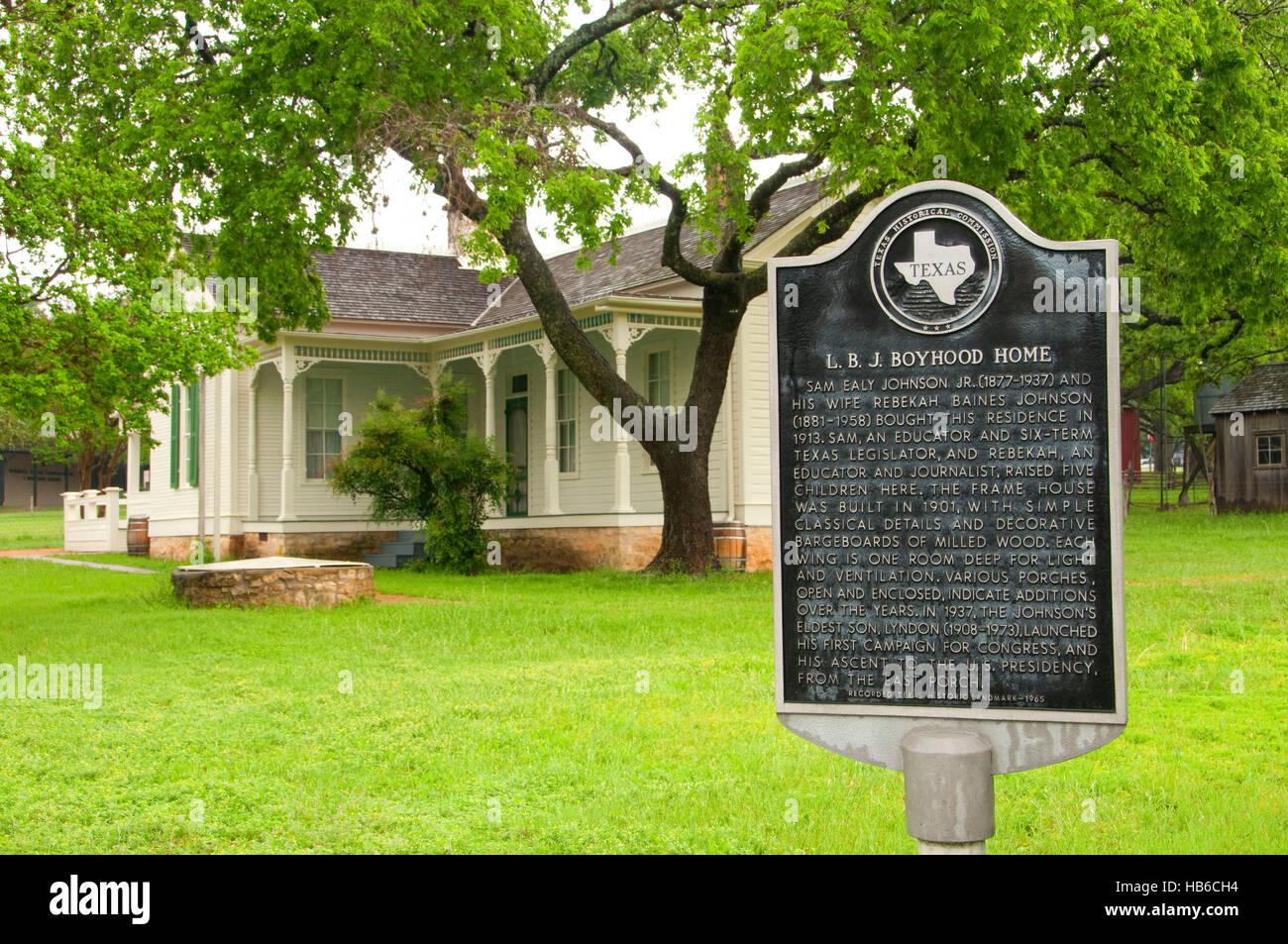 Lbj boyhood home with historic sign lyndon b johnson national lbj boyhood home with historic sign lyndon b johnson national historical park texas publicscrutiny Image collections