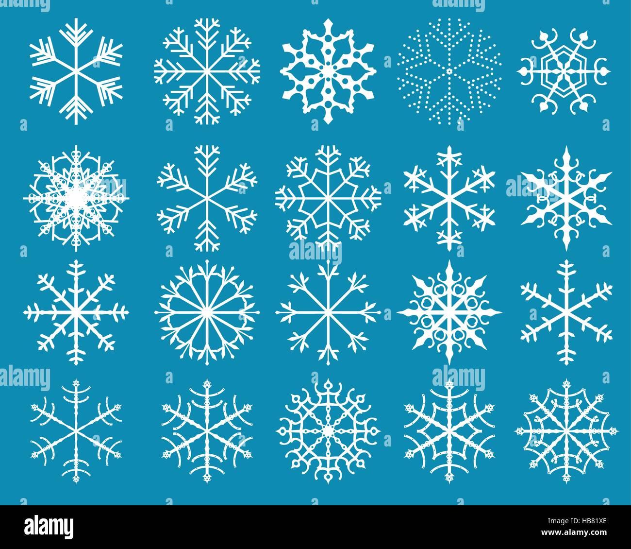 White stylized snowflake designs Stock Vector Art & Illustration ...