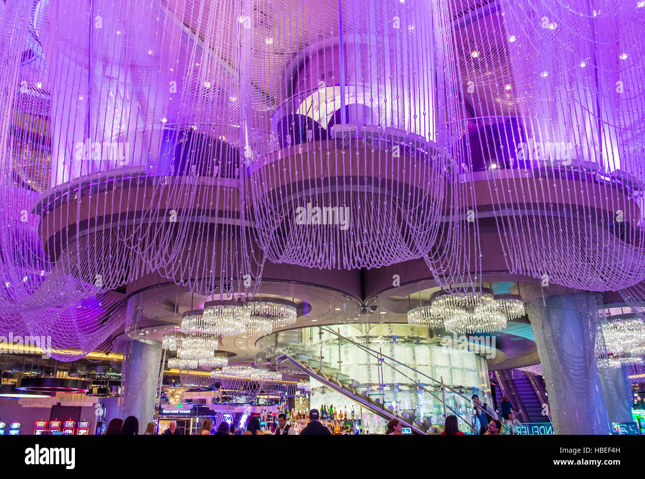Las vegas oct 05 the chandelier bar at the cosmopolitan hotel las vegas oct 05 the chandelier bar at the cosmopolitan hotel casino in las vegas on october 05 2016 this tri level chandelier encases the hote arubaitofo Gallery