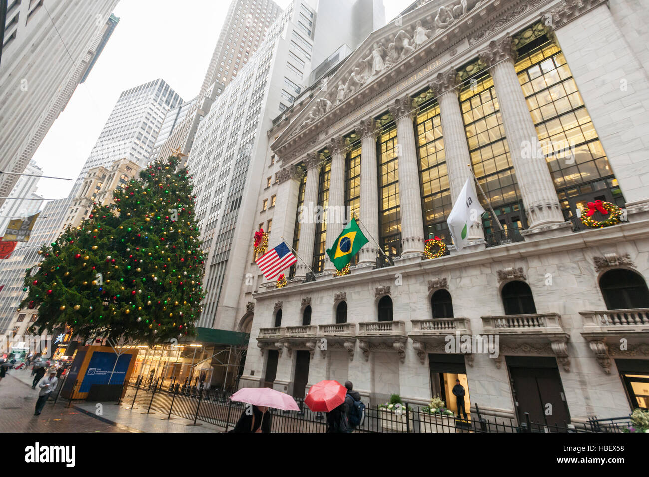The front of the New York Stock Exchange on Wednesday November 30