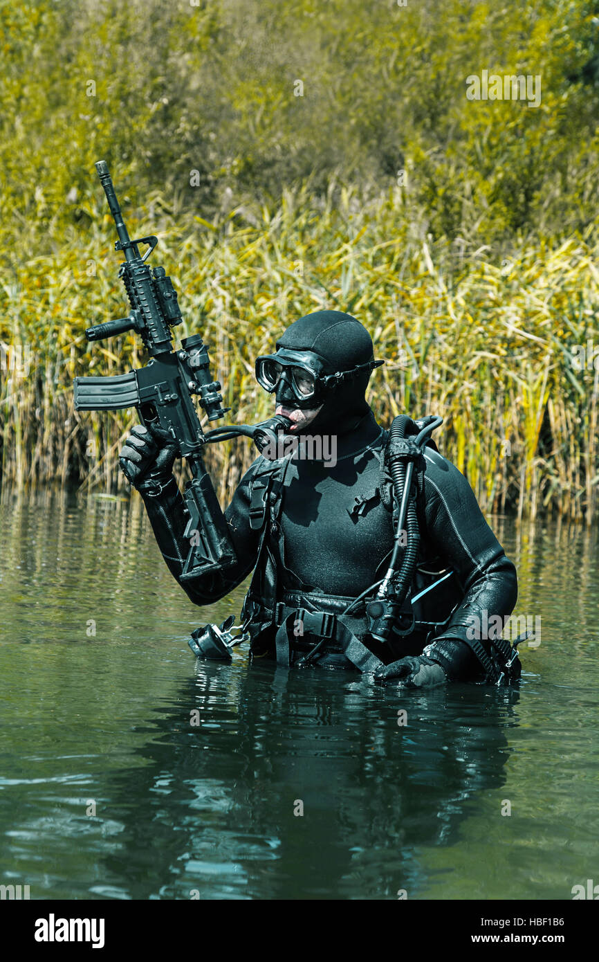 Navy seal frogman stock photo royalty free image 127564170 alamy - Navy seal dive gear ...