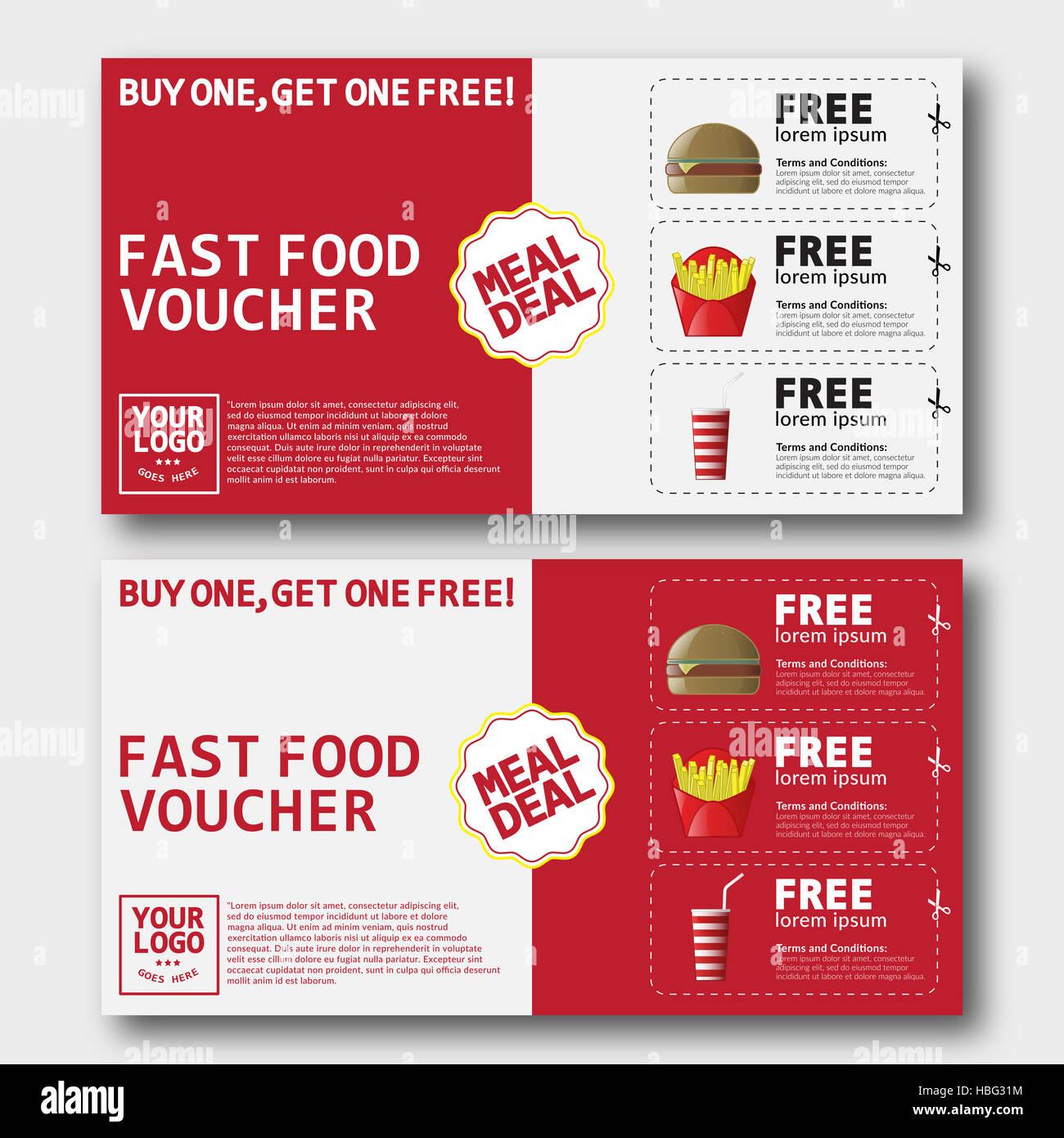 Fast Food Voucher Template