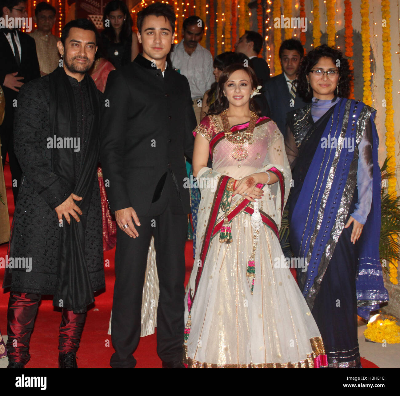 Actor Aamir Khan With Wife Kiran Rao Pose Picture Newly Married Couple Imran Avantika Malik 24 Pali Hill Bungalows Mumbai