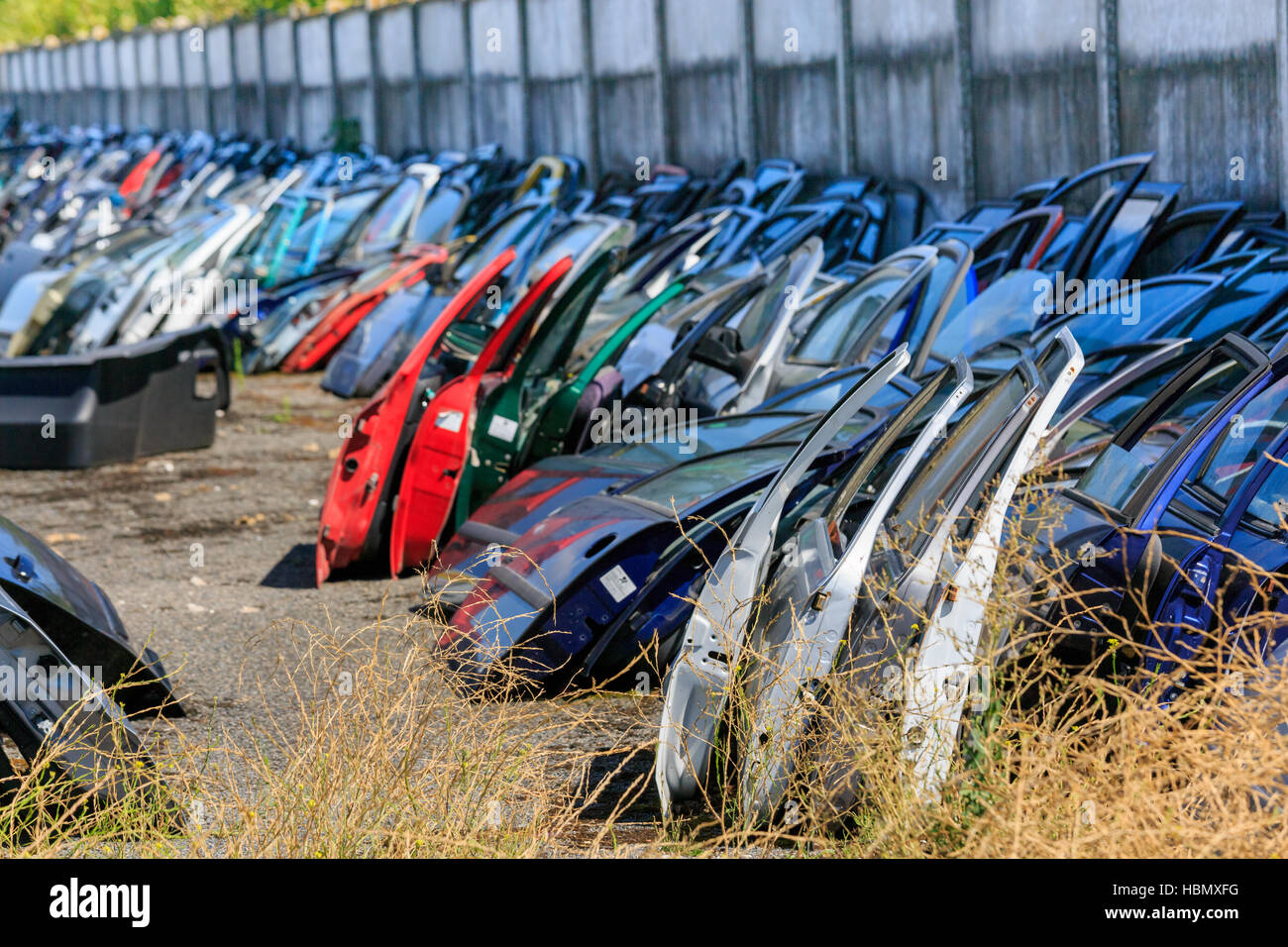 Many car doors for aftermarket & Many car doors for aftermarket Stock Photo Royalty Free Image ...