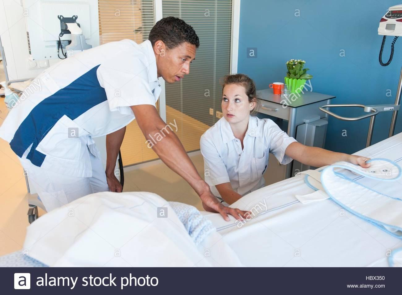 bed bondage hospital nurse ward