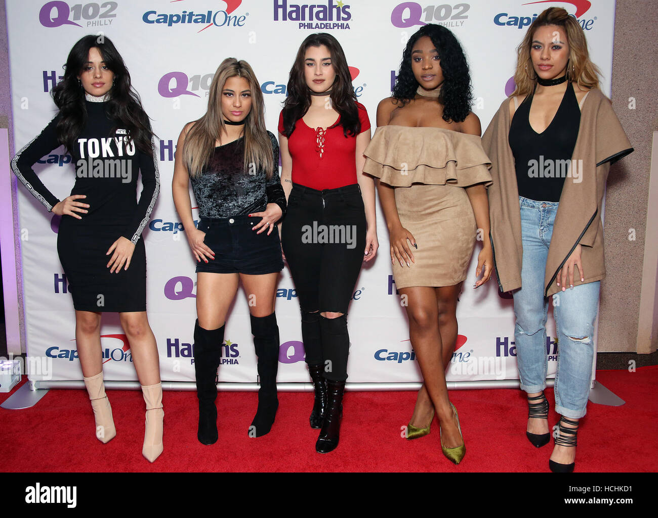 Philadelphia usa 7th dec 2016 fifth harmony pictured right fifth harmony pictured right before a meet and greet at q102s iheartradio jingle ball 2016 at wells fargo center in philadelphia on december m4hsunfo