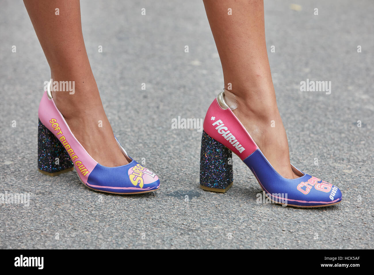 with high heel comic graphic shoes before prada