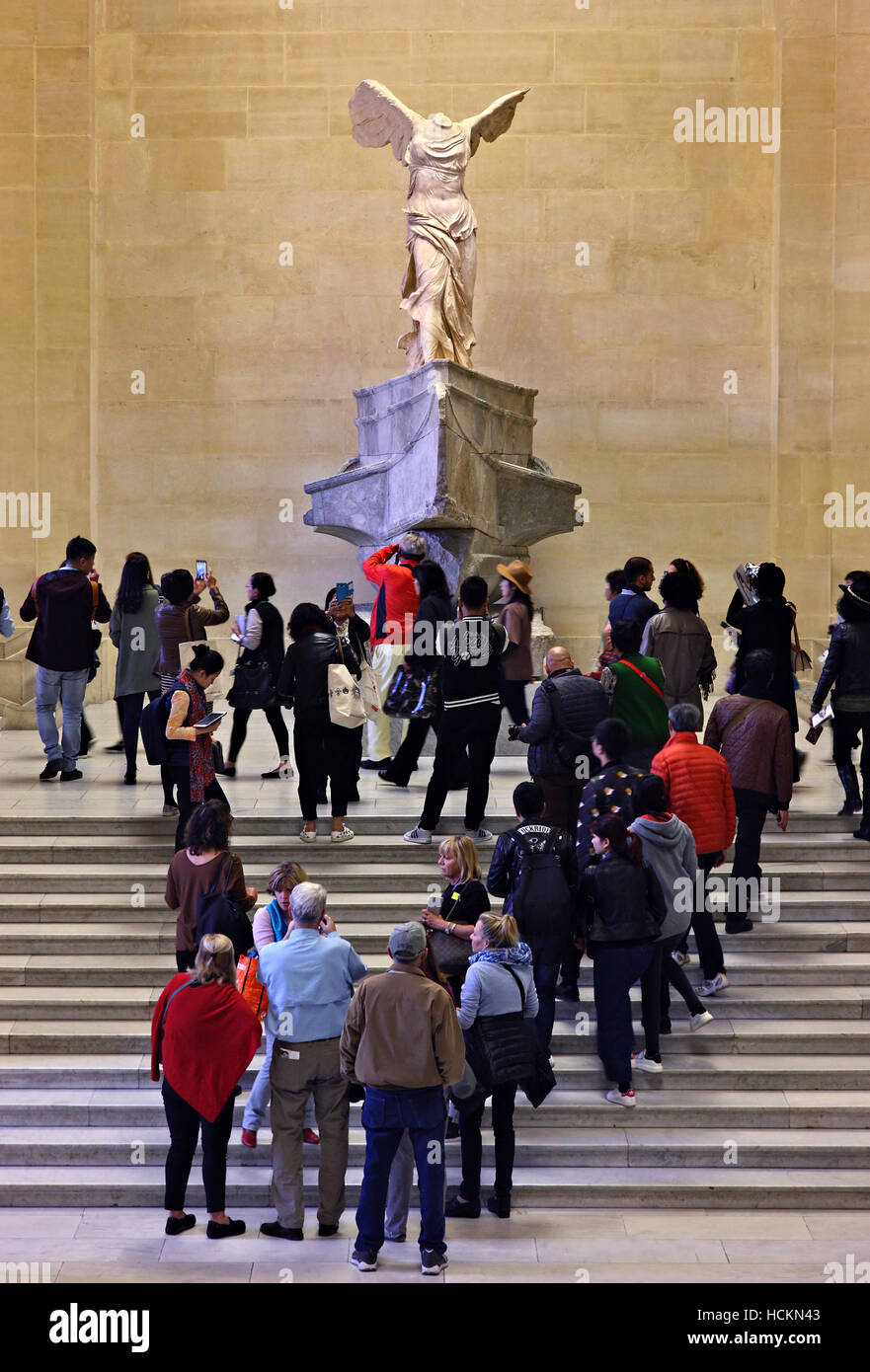 Visitors gathered in front of the