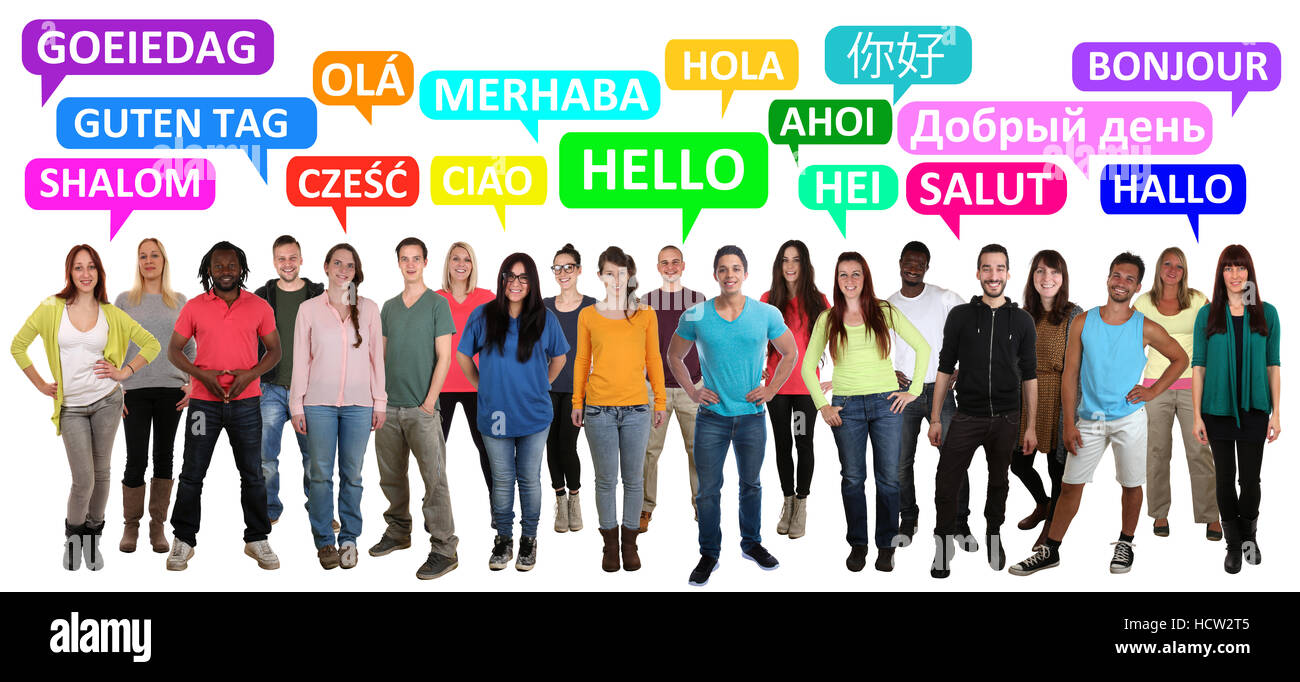 Hello people greeting in different stock photos hello people hello multi ethnic group of smiling young people saying in different languages stock image kristyandbryce Image collections