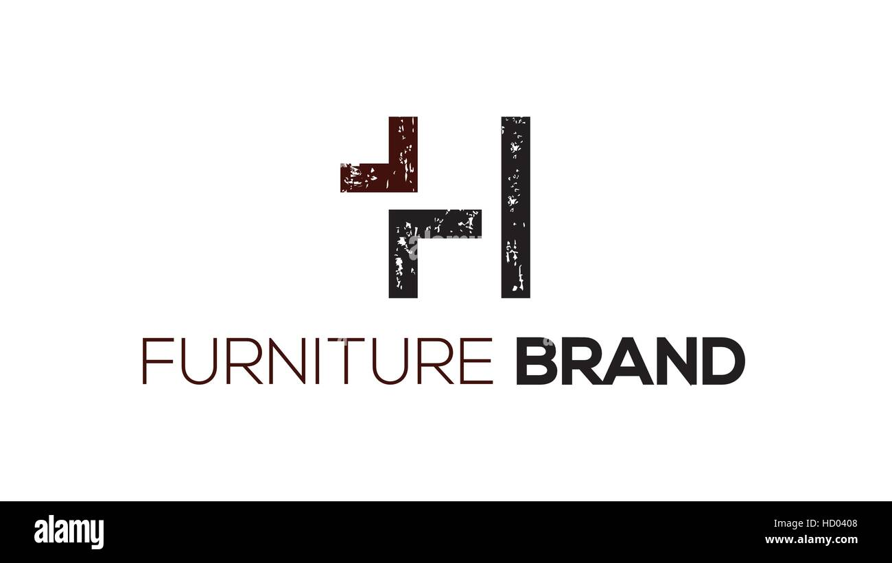H Letter Vector Furniture Or Chair Logo Design Template Interior Brand Identity Sign