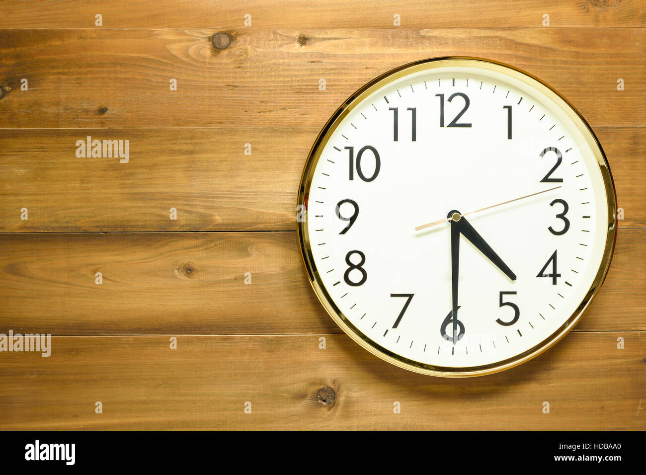 Wall clock on the wooden wall at 4am or 4pm stock photo royalty stock photo wall clock on the wooden wall at 4am or 4pm amipublicfo Choice Image