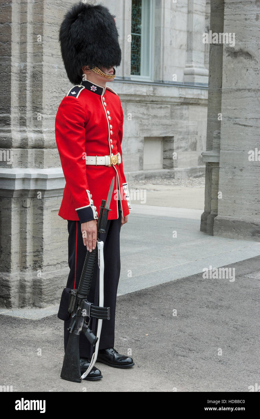 Superb A Sentry From The Canadian Ceremonial Guard Stands In Front Of Largest Home Design Picture Inspirations Pitcheantrous