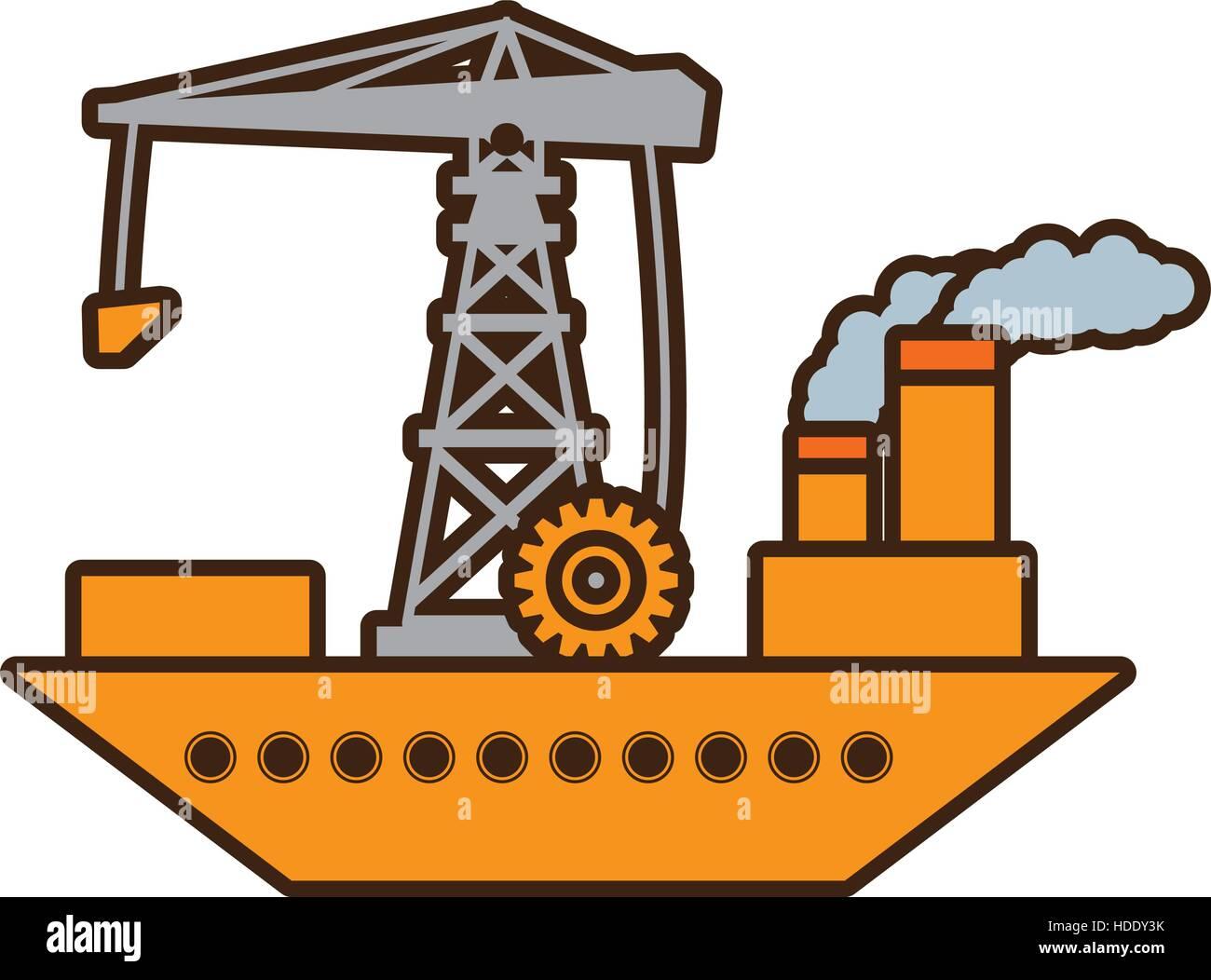 Cartoon ship cargo crane chimney pollution stock vector art cartoon ship cargo crane chimney pollution sciox Gallery