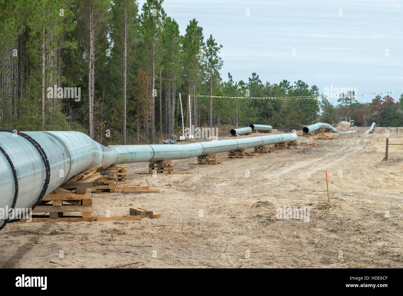Natural Gas Pipeline Installation : New methane natural gas pipeline construction near bell